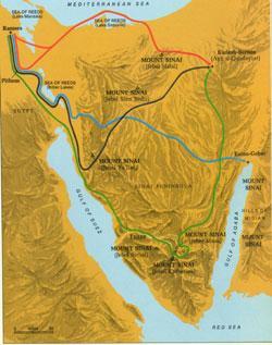 kart over rødehavet Bibel Museum Online kart over rødehavet
